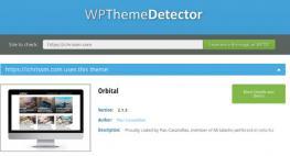 wordpress theme detector orbital theme